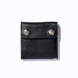 <img class='new_mark_img1' src='https://img.shop-pro.jp/img/new/icons50.gif' style='border:none;display:inline;margin:0px;padding:0px;width:auto;' />CALEE / Silver star concho flap leather short wallet