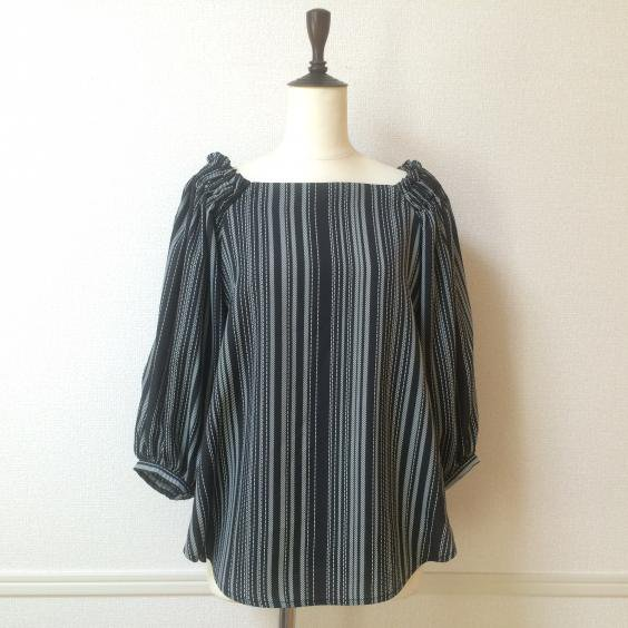 <img class='new_mark_img1' src='//img.shop-pro.jp/img/new/icons5.gif' style='border:none;display:inline;margin:0px;padding:0px;width:auto;' />【CYNICAL】STRIPE BLOUSE