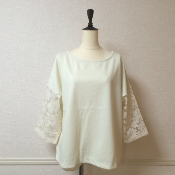 <img class='new_mark_img1' src='//img.shop-pro.jp/img/new/icons5.gif' style='border:none;display:inline;margin:0px;padding:0px;width:auto;' />【PRAISE】LACE SLEEVE TOPS