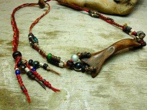 横型流木デザインネックレス