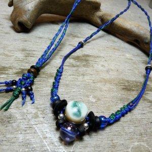 夜光貝とコスモオーラのネックレス