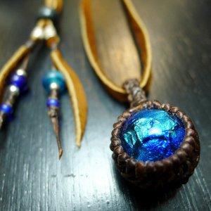 ホタルガラスのシンプルマクラメ�