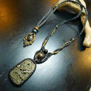 ドラゴンオブシディアンデザインネックレス