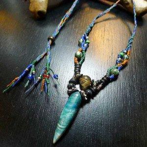 夜光貝&ルチルのデザインネックレス