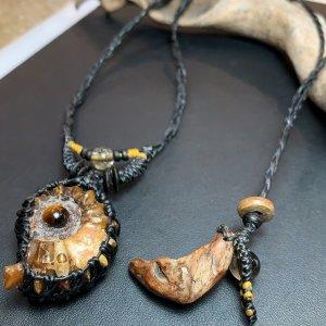 アンモライトの化石ネックレス!�