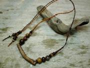 横型流木ネックレス