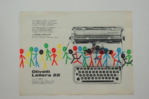 雑誌広告olivetti 6 ヴィンテージポスター
