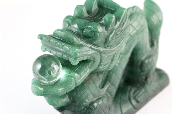 アベンチュリン 彫刻 693g 龍