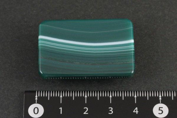 天然石帯留め 縞クリソ(長方形)