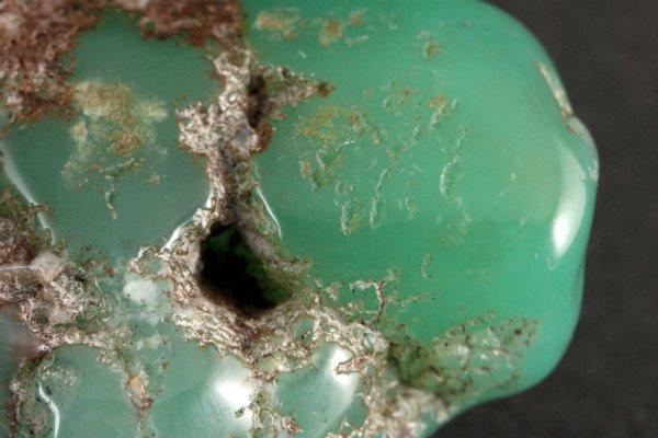 クリソプレーズ 原石 磨き 19g