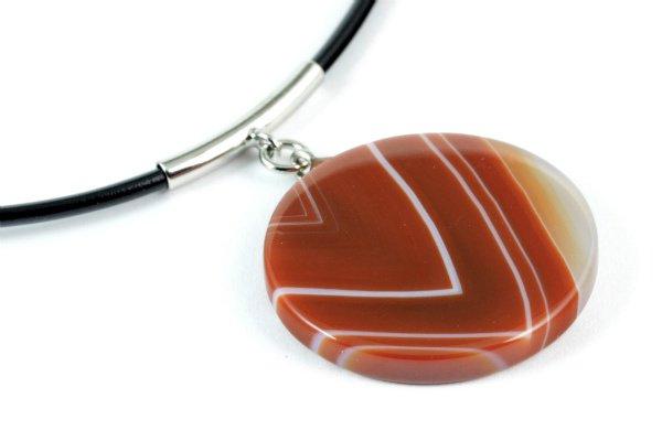 天然石ペンダント 赤メノウ(丸型)