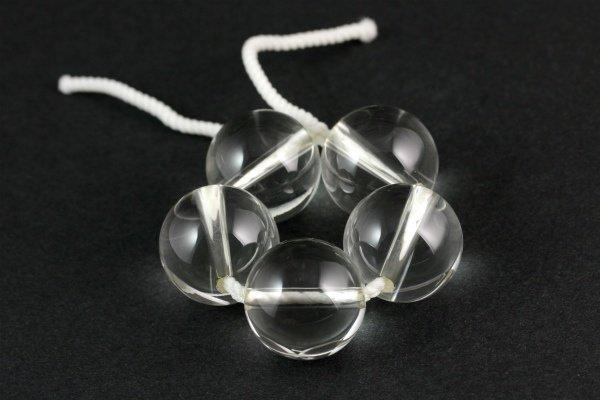天然水晶丸玉 ビーズ19mm 5個セット