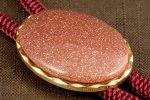 ループタイ 金色フレーム付き 茶金石(小)