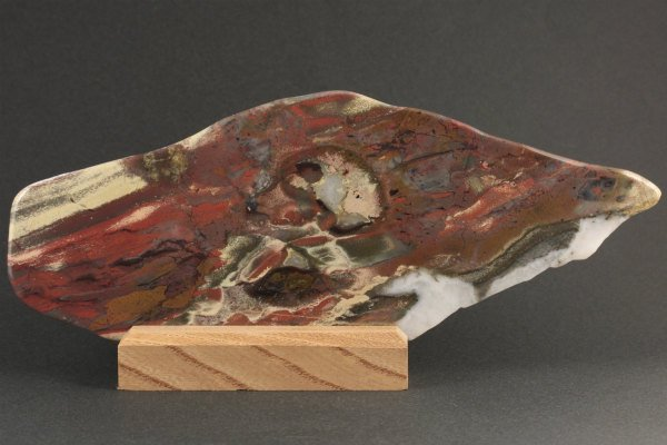佐渡 錦紅石 原石 磨き 144g