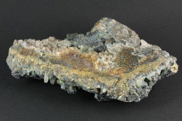 尾太鉱山産水晶 (パイライト/閃亜鉛鉱共生) 767g