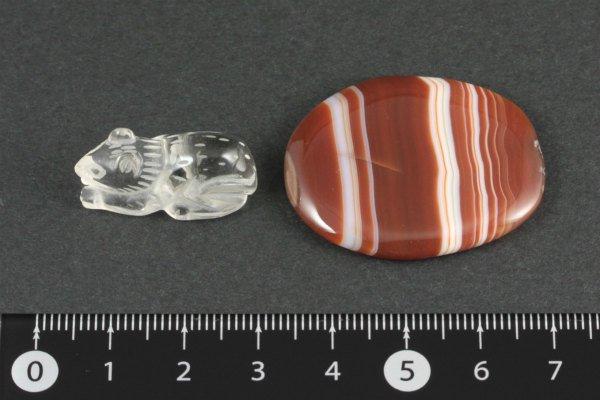 水晶 ネズミ×縞メノウ 12g