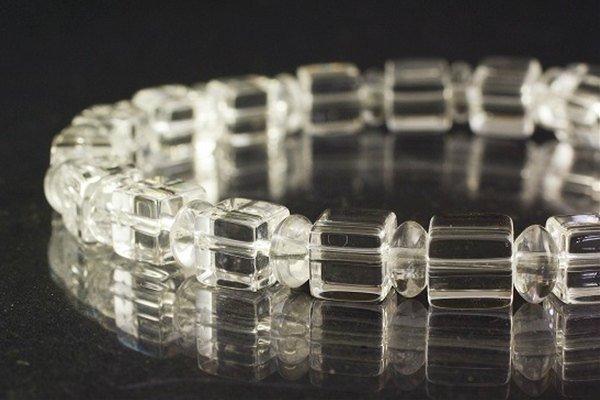 水晶角×水晶平玉ブレスレット