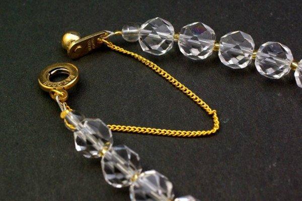 水晶キリコ(ガラスビーズ入り)ブレスレット