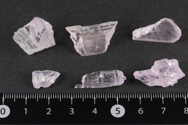 クンツァイト 原石 6個セット 12g