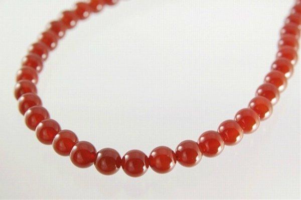 赤メノウ 8mm ネックレス