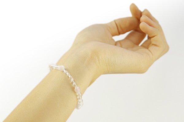 【プチブレス】水晶4mm&ローズクォーツ
