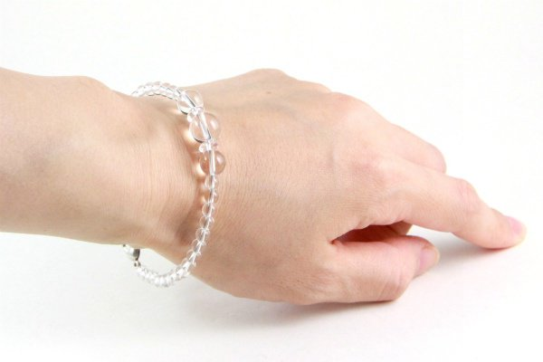 天然石羽織紐兼ブレスレット 水晶