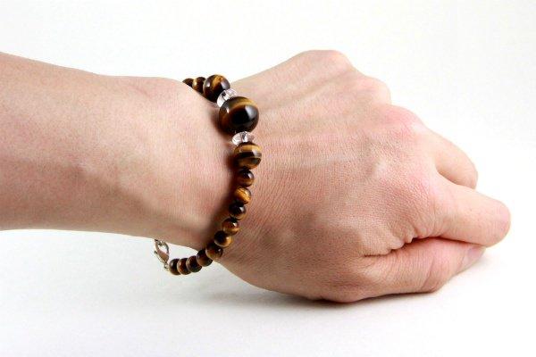 天然石羽織紐兼ブレスレット タイガーアイ (大)