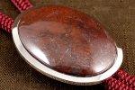 ループタイ フレーム付き 佐渡の赤玉石