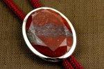 ループタイ フレーム付き 赤玉石(カット)