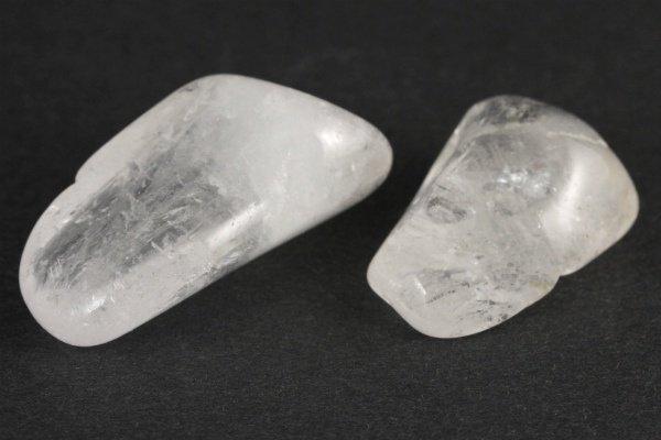 乙女鉱山産水晶 原石 磨き2個セット 29.9g