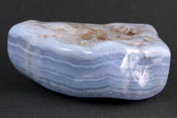 ブルーレースアゲート 原石 磨き 218g