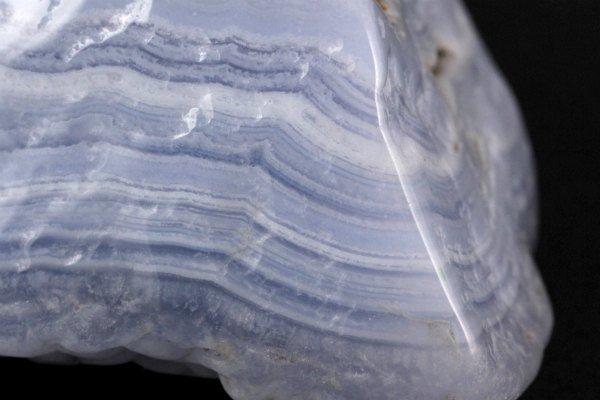 ブルーレースアゲート 原石 磨き 181g