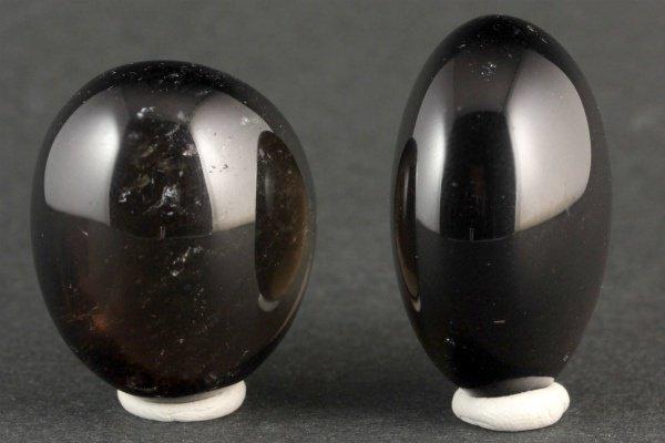 スモーキークォーツ 原石 磨き2個セット 38.2g