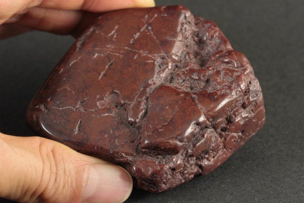 佐渡の赤玉石 原石 磨き 243g