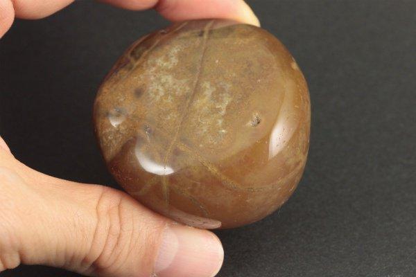 カーネリアン 原石 磨き 198g