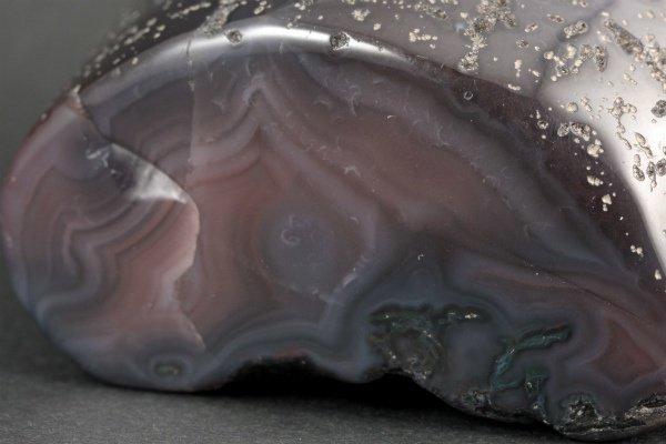 ボツワナアゲート 原石 磨き 265g