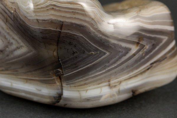 ボツワナアゲート 原石 磨き 195g