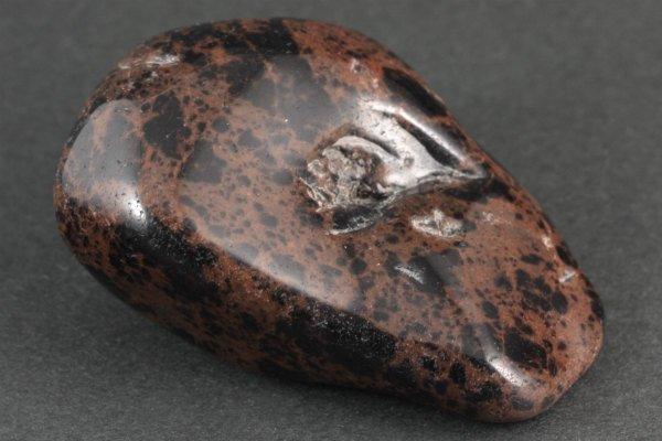 十勝石 (オブシディアン) 原石 磨き 257g