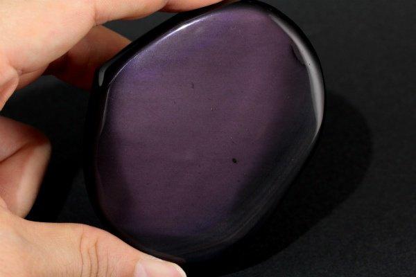 レインボーオブシディアン 原石 磨き 110g