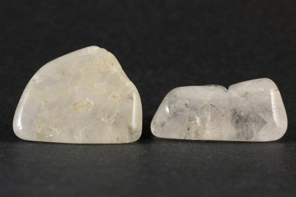 乙女鉱山産水晶 原石 磨き2個セット 24.8g