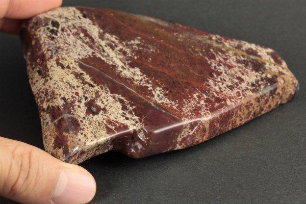 レッドジャスパー 原石 磨き 276g