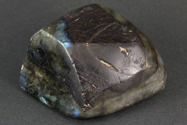 ラブラドライト 原石 磨き 973g