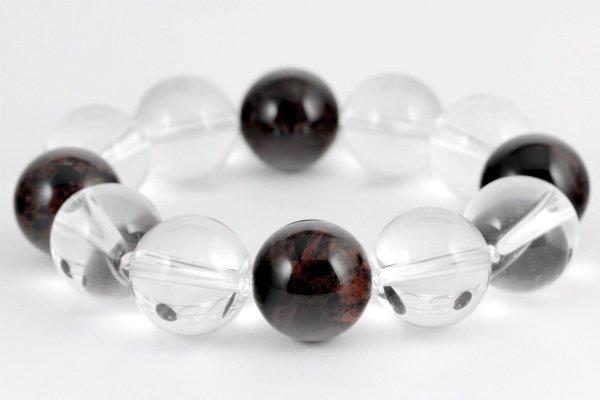十勝石&水晶19mm玉 ブレスレット
