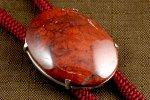 ループタイ 佐渡の赤玉石(ジャスパー)