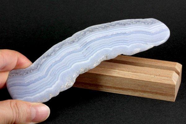 ブルーレースアゲート 原石 磨き 73g