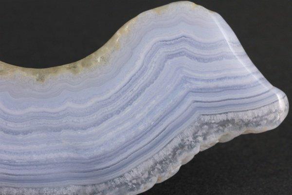 ブルーレースアゲート 原石 磨き 55g