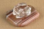 水晶 カエル×縞メノウ 17g