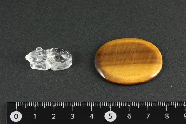 水晶 ネズミ×タイガーアイ 12g