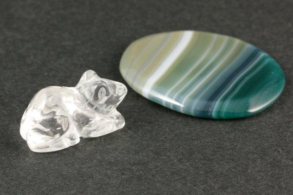 水晶 ネズミ×縞クリソ 11g