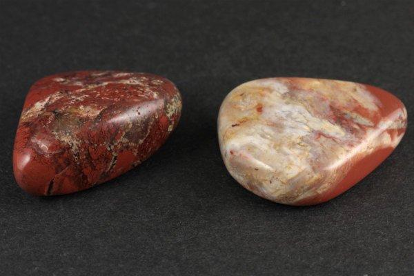 ジャスパー 原石 磨き 2個セット 131g